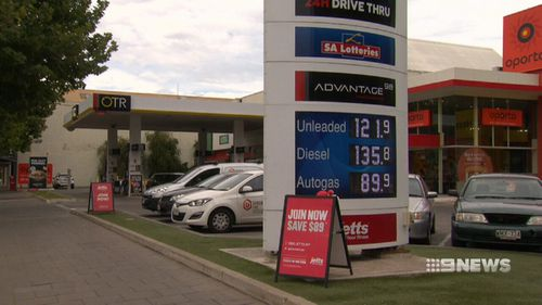 In Adelaide, lower prices stayed down for almost a week. (9NEWS)