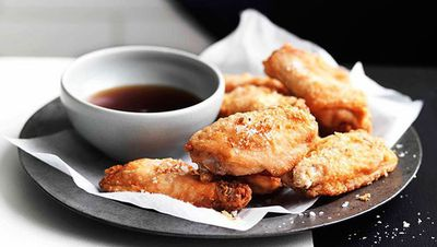 "Recipe: <a href=""http://kitchen.nine.com.au/2016/05/16/16/38/crisp-chicken-wings-with-fried-shallots-and-red-wine-vinegar"" target=""_top"">Crisp chicken wings with fried shallots and red wine vinegar</a>"