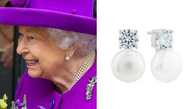 Queen Elizbeth's diamond and pearl studs