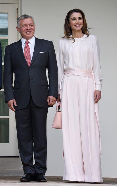 <p>Queen Rania of Jordan, wearingAdeam, in Washington D.C, August, 2018</p>