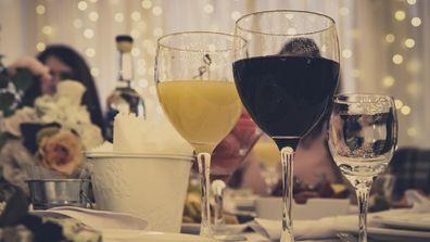 Wedding reception dinner guests