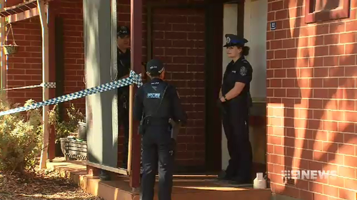 A man is in hospital after allegedly being stabbed in the stomach at a unit in Adelaide's north this morning.