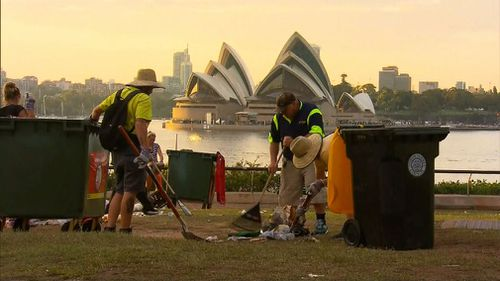 A clean up is currently underway across country with volunteers and council workers removing the big mess left in the wake of last night's celebrations.
