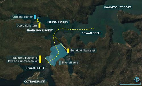 The ATSB report showed the flight path the aircraft took before it crashed. (ATSB)