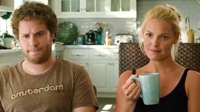Seth Rogen and Katherine Heigl in Knocked Up.