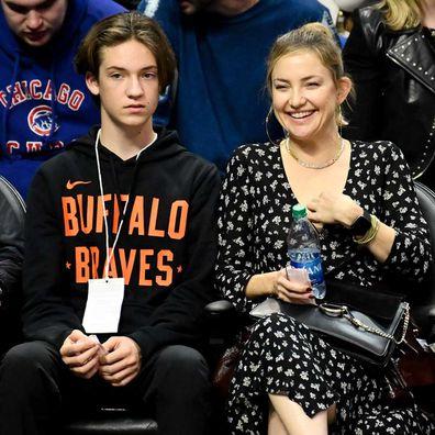 Kate Hudson and Ryder in November, 2019.