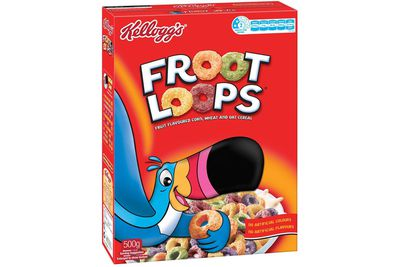 Froot Loops: 18.4g sugar per 30g serve (with milk)