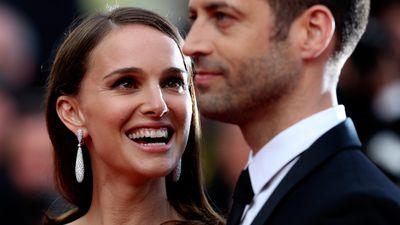 Natalie Portman with her husband Benjamin Millepied. (AAP)