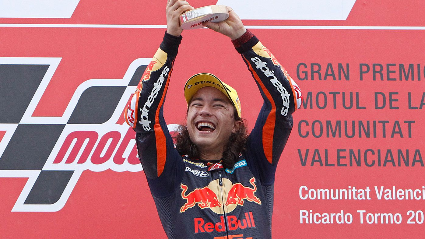Turkey's Can Oncu becomes youngest ever Moto3 GP winner at 15 years old
