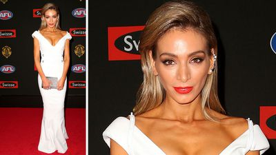 Jimmy Bartel's wife Nadia Coppolino Bartel wore white. (Getty Images)
