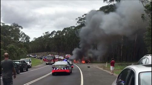 The Falkholt family were struck in a fiery crash.
