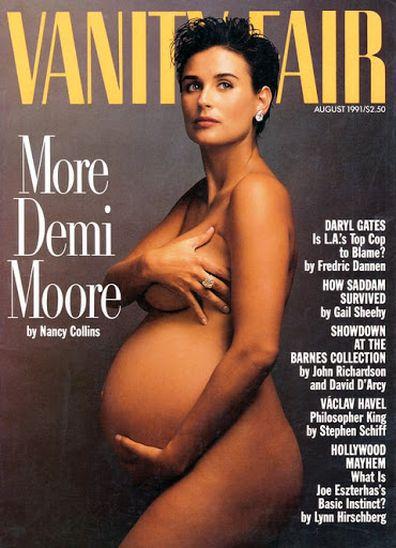 Demi Moore, Bruce Willis, relationship timeline, Vanity Fair, cover