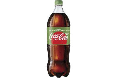 Coca-Cola with Stevia: 5g sugar per 100ml