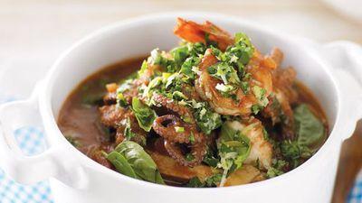 "<a href=""http://kitchen.nine.com.au/2016/05/13/12/16/seafood-stew-with-coriander-gremolata"" target=""_top"">Seafood stew with coriander gremolata</a>"