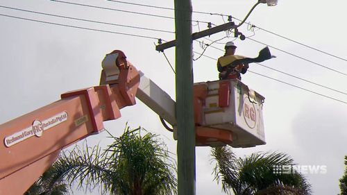 It took emergency crews four hours to clean up the mess and secure the debris. Picture: 9NEWS