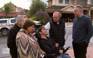 Tradie hailed as hero after rescuing disabled neighbour from fire