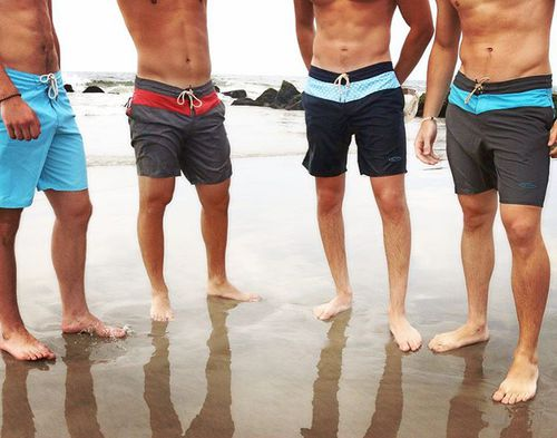They started with boardshorts, making them from water bottles. They collected their 'materials' from mass recycling facilities around the world. Picture: Facebook