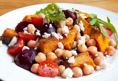 "Recipe: <a href=""http://kitchen.nine.com.au/2016/05/05/12/50/kathleen-alleaumes-baby-beet-chickpea-and-feta-salad"" target=""_top"">Kathleen Alleaume's baby beet, chickpea and feta salad</a>"
