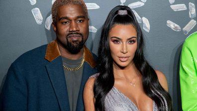 Kanye West and Kim Kardashian West in 2018