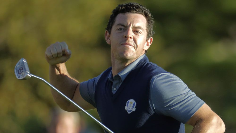 Rory McIlroy sealed a win with a superb eagle. (AAP)