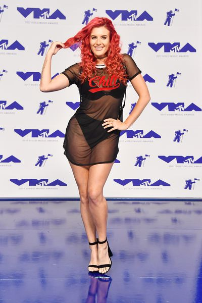 Justina Valentine in Fashion Novaat the 2017 MTV VMAs in LA, August 27.