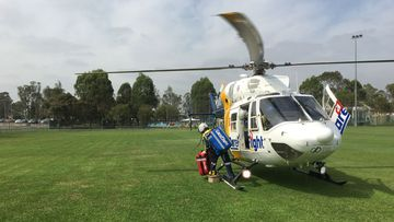 CareFlight was called in to assist after a boy was truck by a car while riding his scooter.