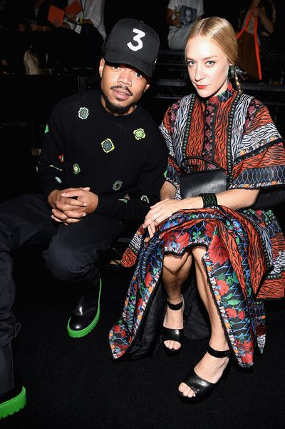 Chance the rapper and Chloe Sevigny front row at Kenzo x H&M