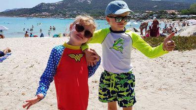 Hereditary Prince Jacques and Princess Gabriella of Monaco on summer holidays