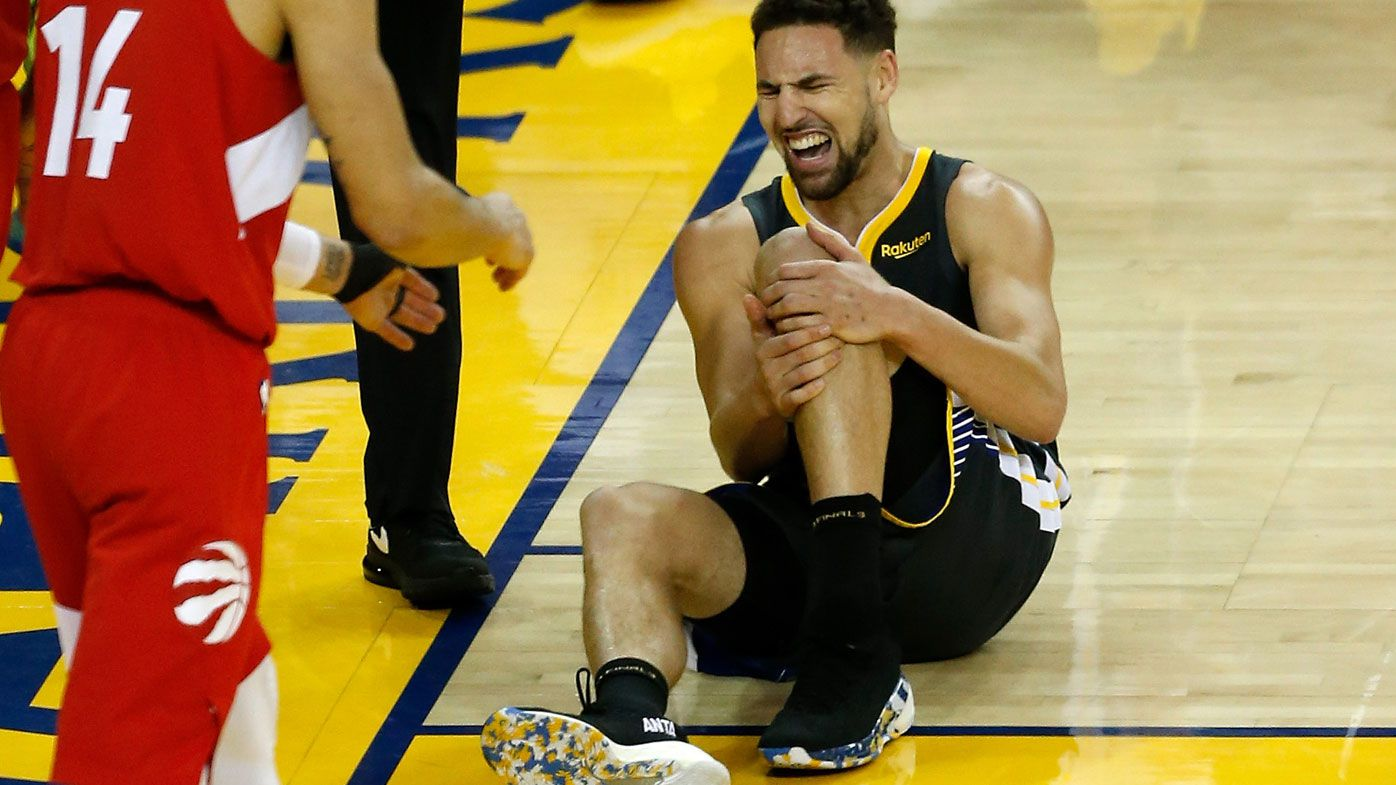 Warriors Klay Thompson suffers concerning leg injury, severity unclear