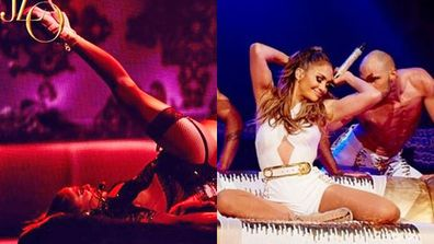 Jennifer Lopez posted a series of sizzling concert snaps to her Instagram...and erm, they're pretty raunchy!<br/><br/>From flashing a tease of her legs in sexy fishnet stockings to posing with some seriously hot male models. Flick through to see them all, then stay tuned to listen to some sneak peeks of JLo's latest tracks...<br/><br/>(Images: @gomillionandleupold via @jlo/Instagram)<br/><br/><i>Written by Yasmin Vought. Approved by Amy Nelmes</i>