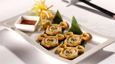 Mickey's seafood glutinous pancakes, Crystal Lotus, Hong Kong Disneyland