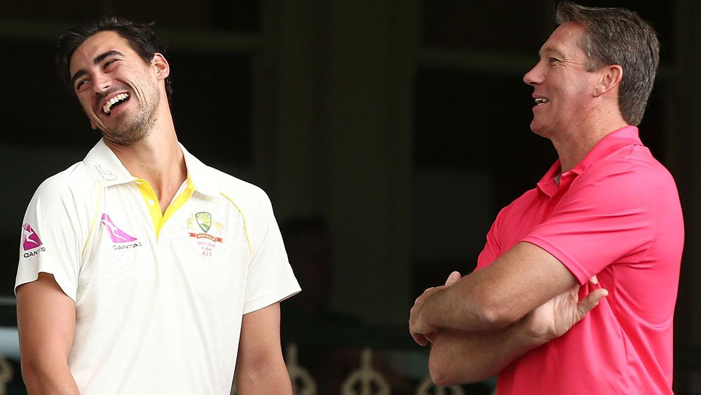 Mitchell Starc and Glenn McGrath.