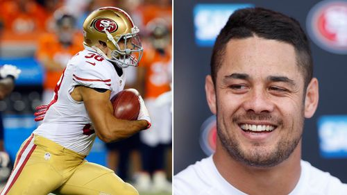 Jarryd Hayne has made the 49ers roster. (AAP)