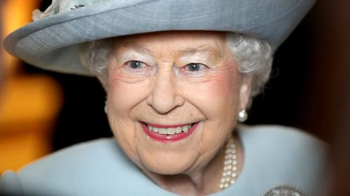 Britain's Queen Elizabeth II smiles during a visit to the Royal College of Physicians, in London on February 20. (AP)