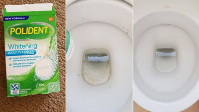 Toilet bowl - before and after