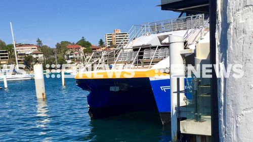 The Ocean Wave has been pulled from service and an investigation into the crash is underway. (Source: Nine.com.au)