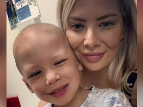 Four-year-old Jaxon has stayed strong and kept a smile on his face during a tough battle against the rare type of leukaemia