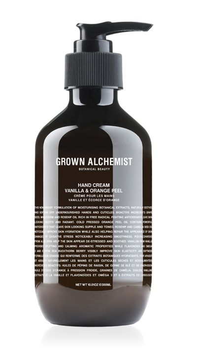 "<a href=""http://www.grownalchemist.com/body-care/hand-cream-nourishing-615.html"" target=""_blank"">Vanilla &amp; Orange Peel, $39.95, Grown Alchemist</a>"