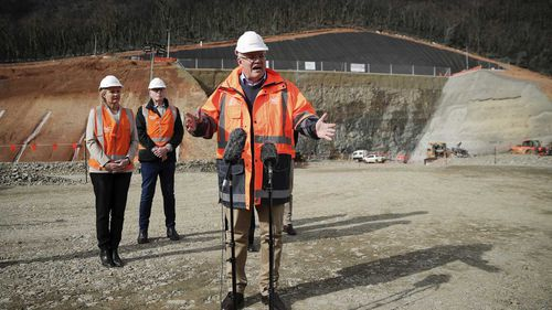 Scott Morrison makes an announcement about Snowy-Hydro 2.0 during the Eden-Monaro by-election campaign.