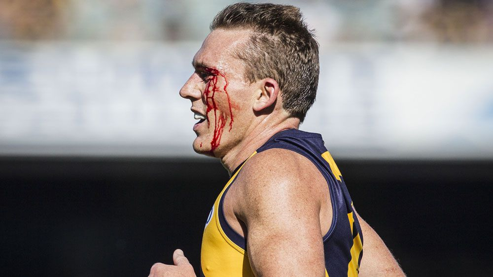 Drew Petrie's AFL career will end when the Eagles' season is over. (AAP)