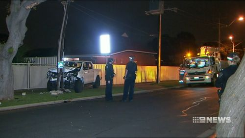 The pursuit came to an end on Rosetta Street in West Croydon. Picture: 9NEWS