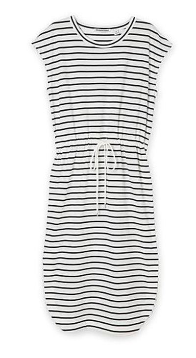 """<a href=""""https://www.countryroad.com.au/shop/woman/clothing/new-in/60212343/Stripe-T-Shirt-Dress.html"""" target=""""_blank"""" draggable=""""false"""">Country Road Stripe T-Shirt Dress, $119.</a>"""
