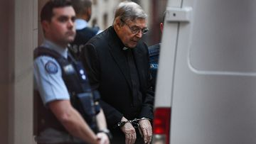 George Pell leaves the Supreme Court after his appeal hearing ended.