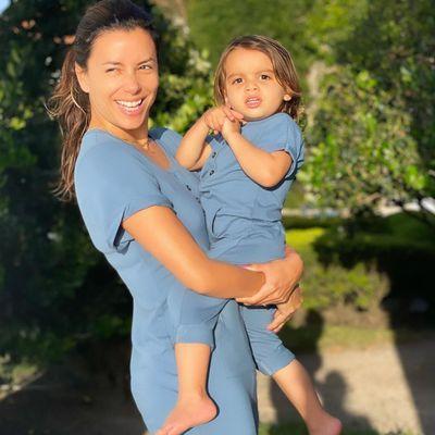 Eva Longoria and son Santiago