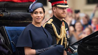 Harry and Meghan trooping the colour 2019