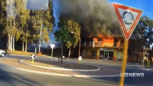 A salon has been destroyed in a fire in Perth's northeast.