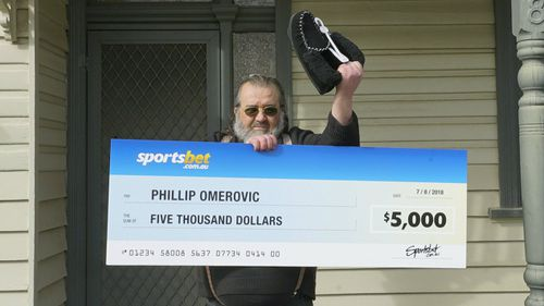 Punter Phillip Omerovic has had a lucky break which has left him happy. Picture: Sportsbet