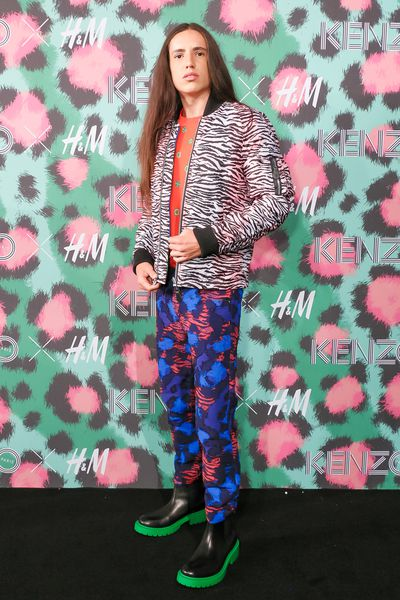Xiuhtezcatl Martinez at H&M x Kenzo