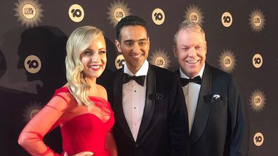 Carrie Bickmore, Waleed Aly, Peter Helliar at TV Week Logie Awards