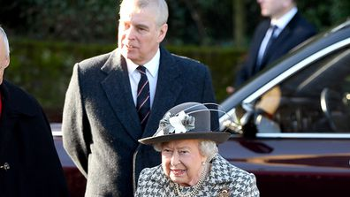 Queen Elizabeth II and Prince Andrew, Duke of York attend church January 19.